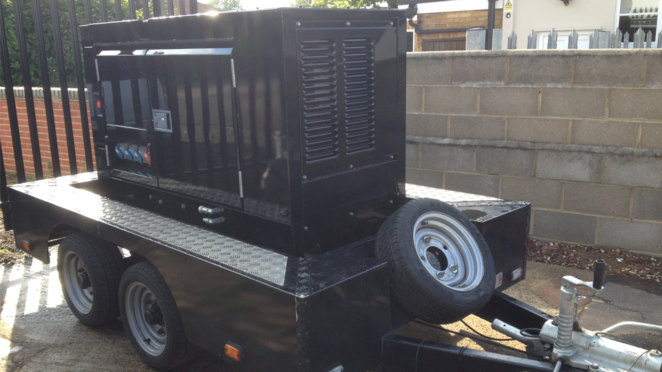 Surrey Stage Hire 20KVA Ultra Silent Road Towable Diesel Generator